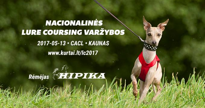 Registracija į nacionalines Lure coursing'o varžybas 2017-05-13